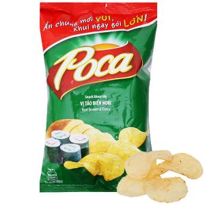 Snack khoai tây vị tảo biển Nori Poca gói 52g