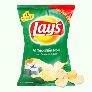 Snack khoai tây vị tảo biển nori Lay's gói 52g