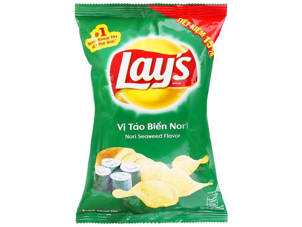 Snack khoai tây vị tảo biển nori Lay's gói 52g 1