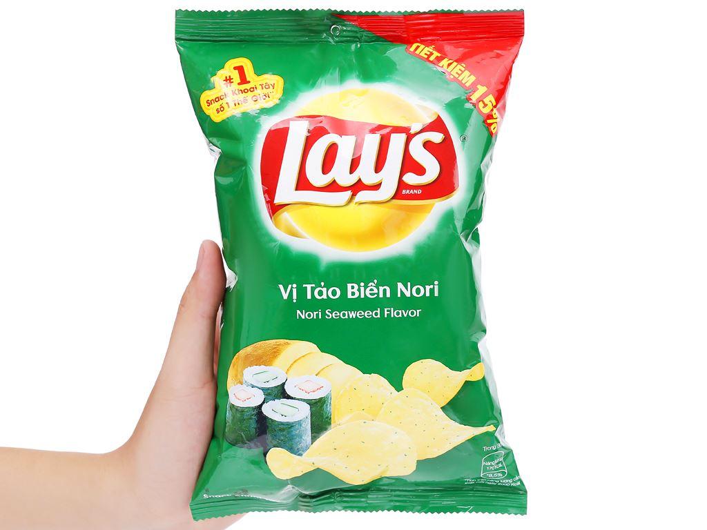 Snack khoai tây vị tảo biển nori Lay's gói 52g 4