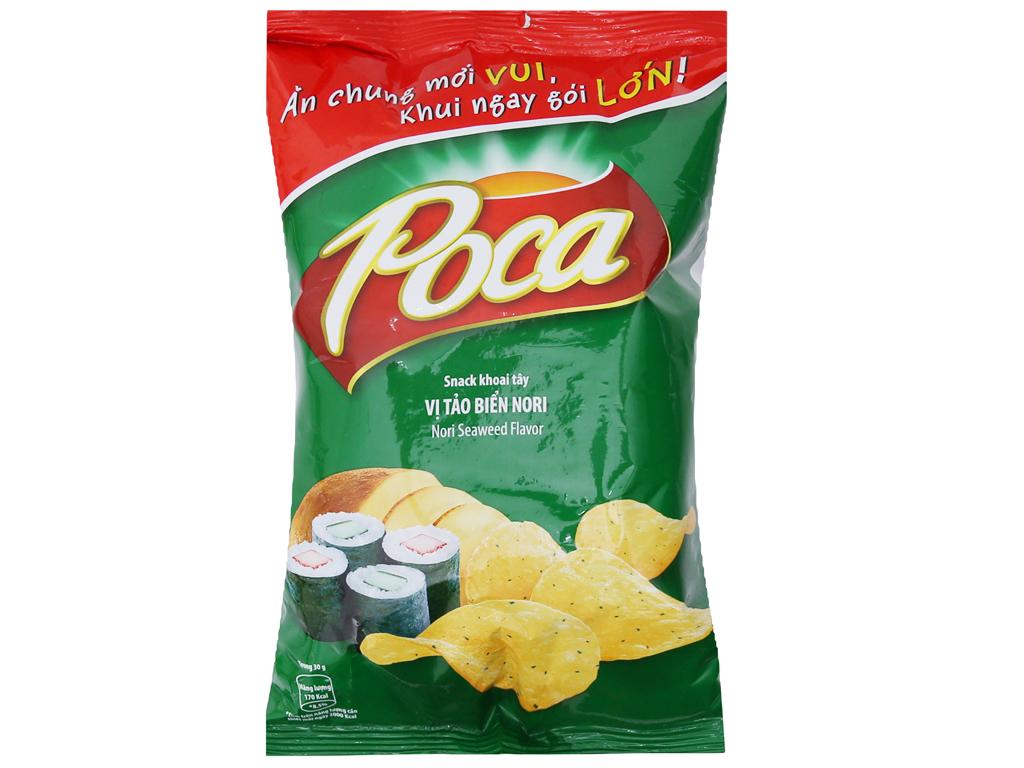 Snack khoai tây vị tảo biển Nori Poca gói 52g 1
