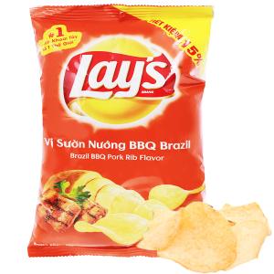 Snack khoai tây vị sườn nướng BBQ Brazil Poca gói 52g