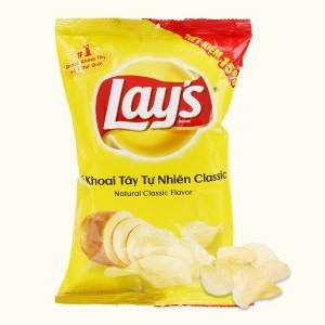 Snack khoai tây vị tự nhiên Classic Lay's gói 52g