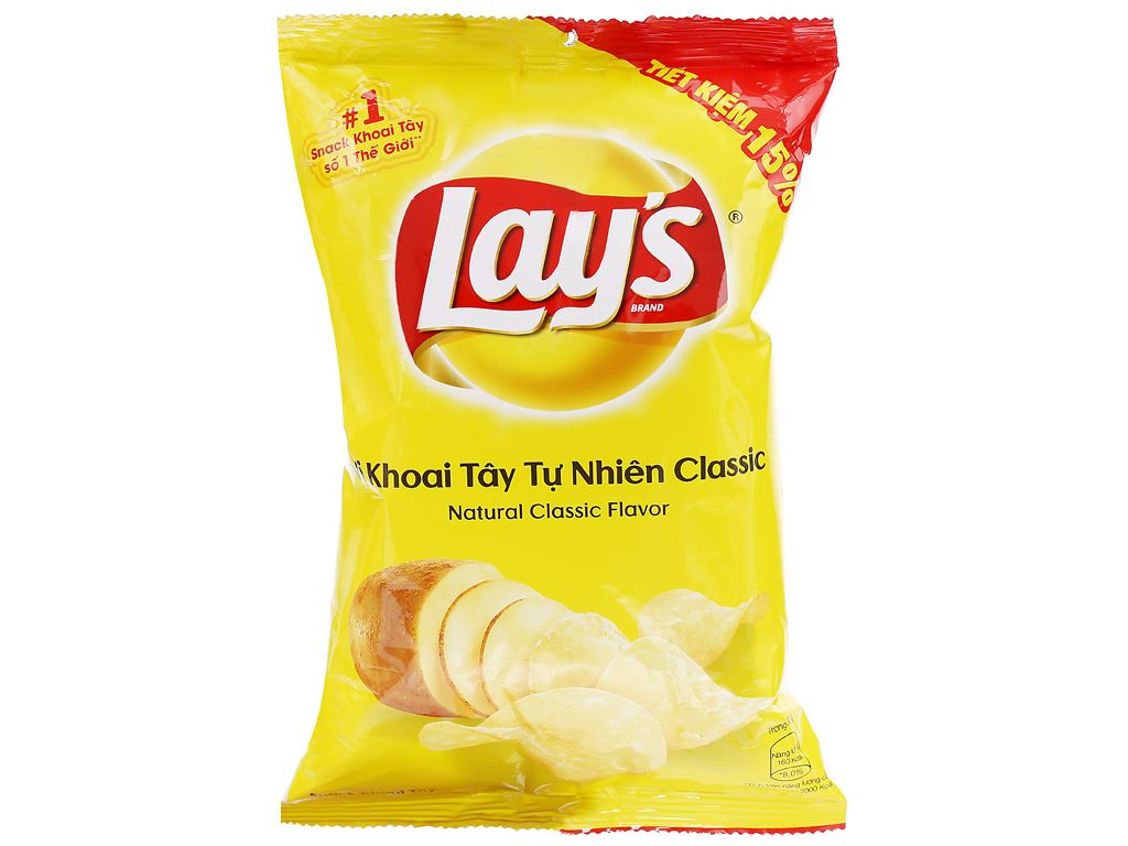 Snack khoai tây vị tự nhiên Classic Lay's gói 52g 1