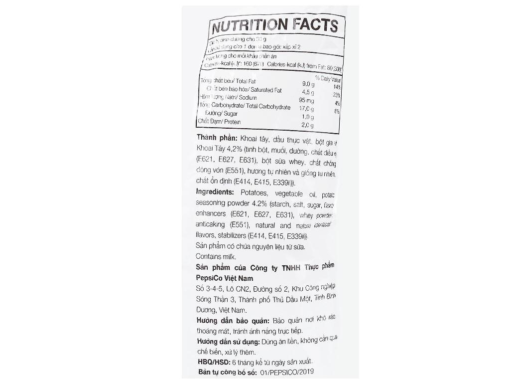 Snack khoai tây vị tự nhiên Classic Lay's gói 52g 3