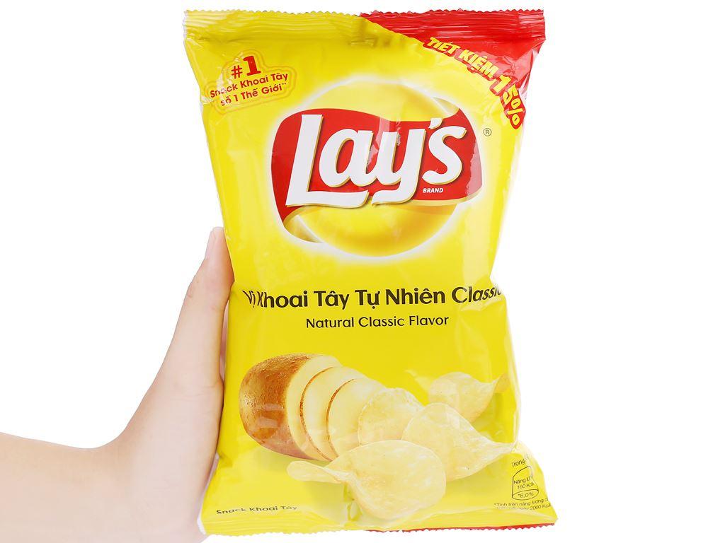 Snack khoai tây vị tự nhiên Classic Lay's gói 52g 4
