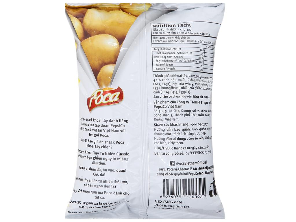 Snack khoai tây vị tự nhiên Poca gói 52g 2