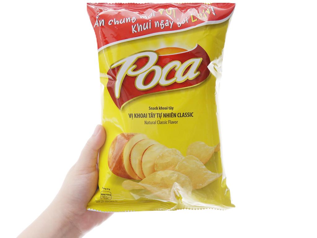 Snack khoai tây vị tự nhiên Poca gói 52g 3