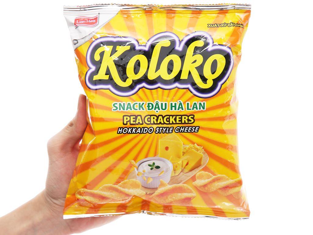 Snack đậu Hà Lan vị phô mai Koloko gói 57g 7