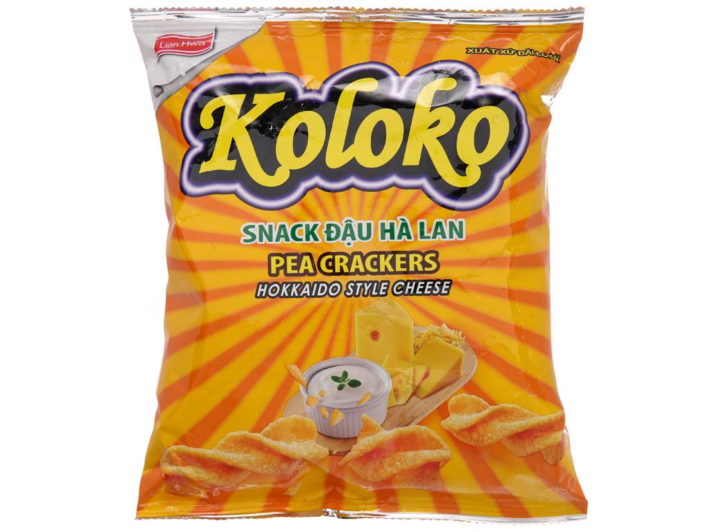 Snack đậu Hà Lan vị phô mai Koloko gói 57g 1