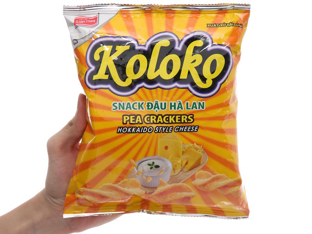 Snack đậu Hà Lan vị phô mai Koloko gói 57g 3
