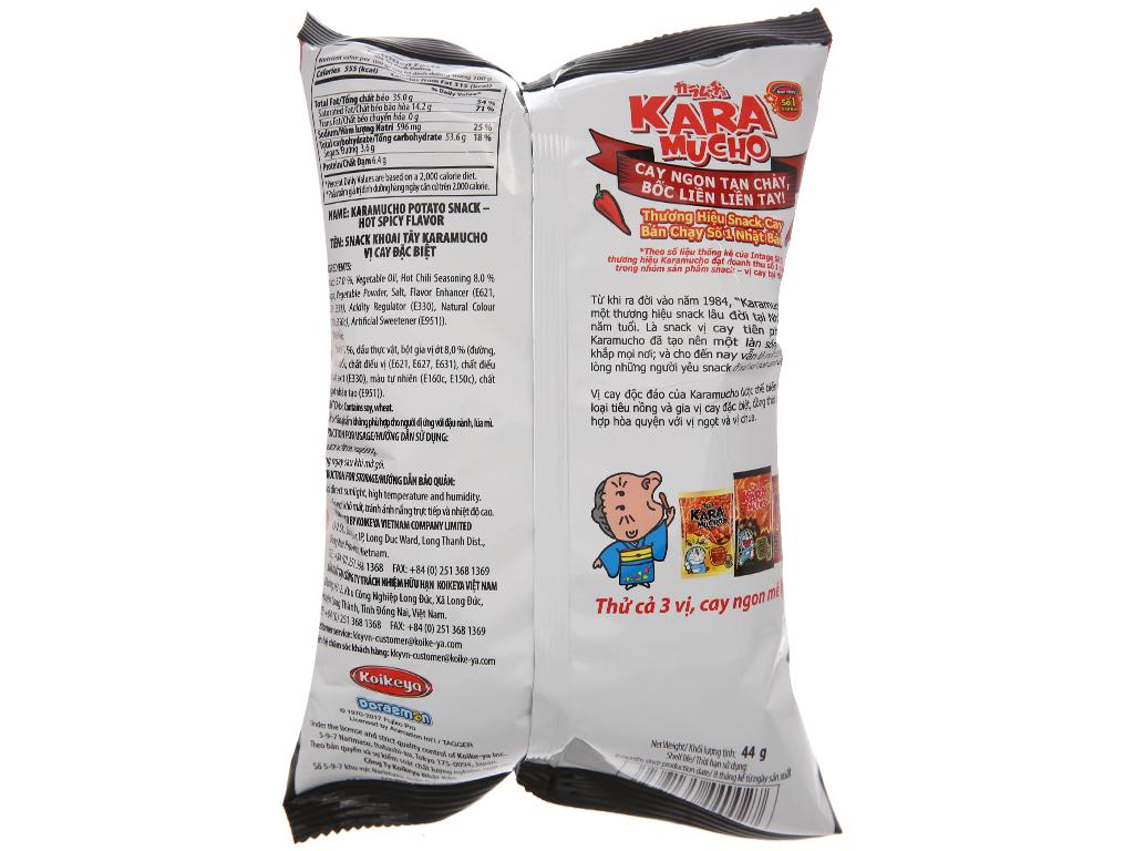 Snack khoai tây vị cay đặc biệt Karamucho gói 44g 2