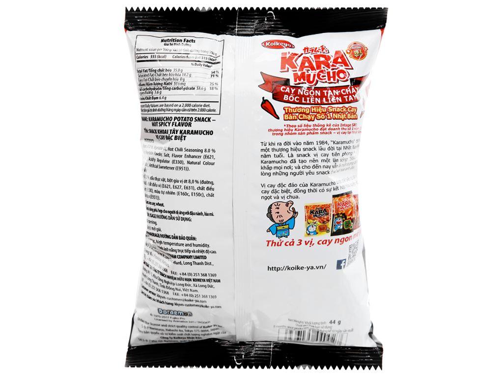 Snack khoai tây vị cay đặc biệt Karamucho gói 44g 6