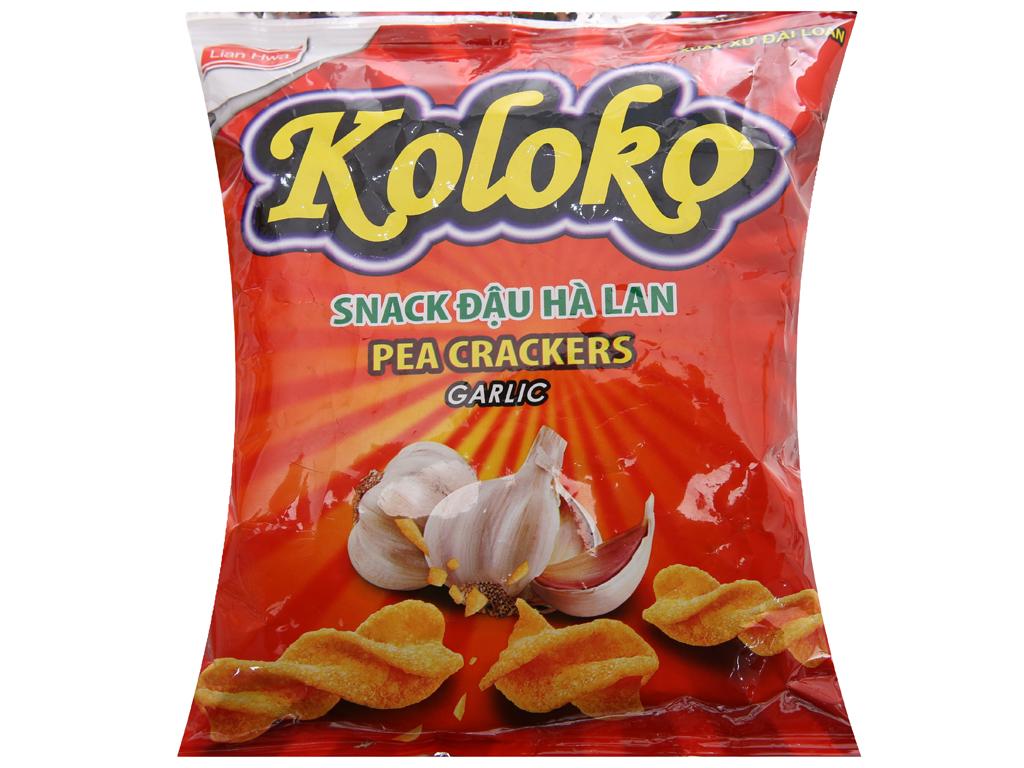 Snack đậu Hà Lan vị tỏi Koloko gói 57g 1