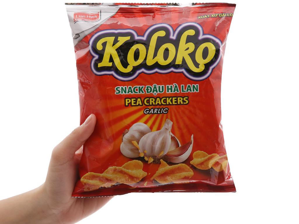 Snack đậu Hà Lan vị tỏi Koloko gói 57g 3