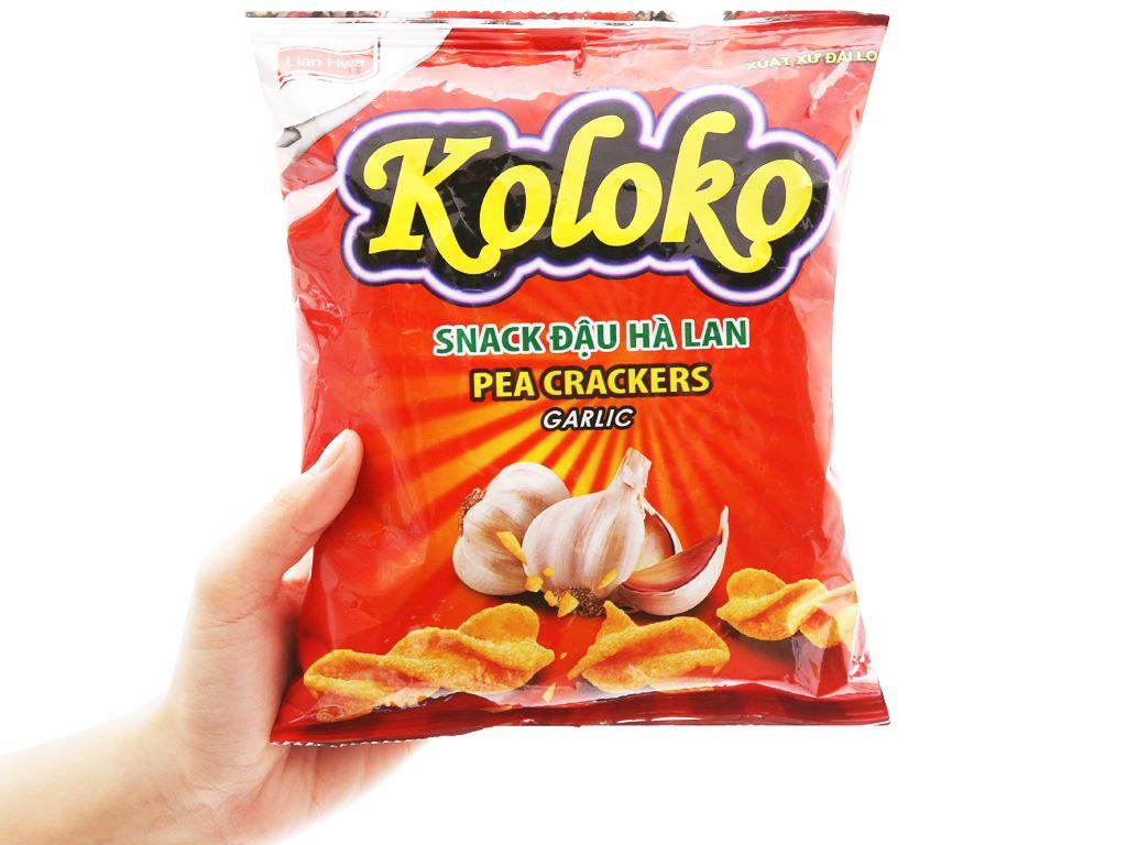 Snack đậu Hà Lan vị tỏi Koloko gói 57g 7