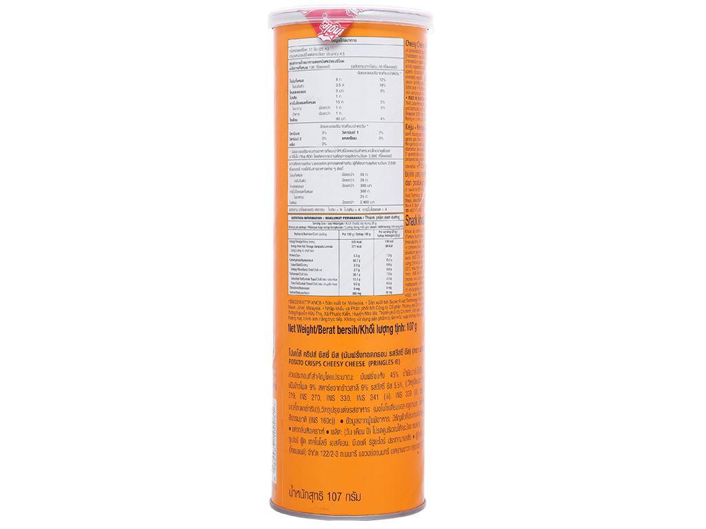 Snack khoai tây vị phô mai Pringles lon 107g 2
