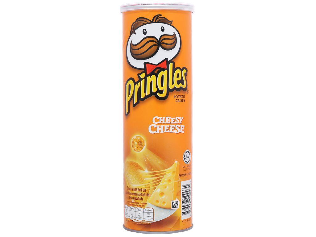 Snack khoai tây vị phô mai Pringles lon 107g 1
