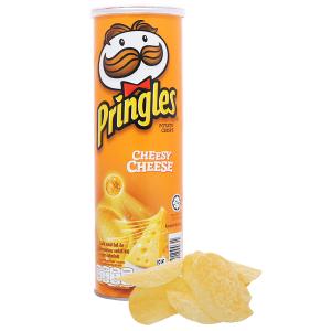 Snack khoai tây vị phô mai Pringles lon 107g