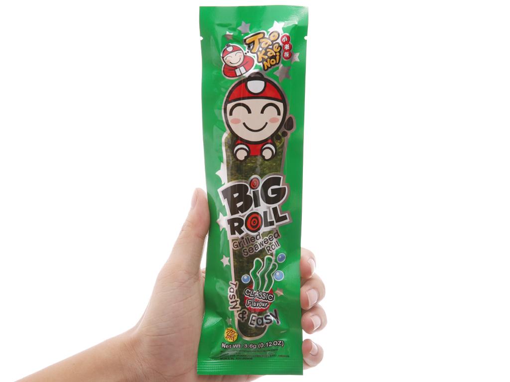 Snack rong biển nướng giòn Tao Kae Noi Big Roll Vị truyền thống 21.6g 3