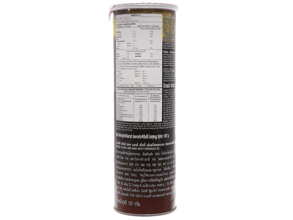 Snack khoai tây Pringles Vị cay 110g 3
