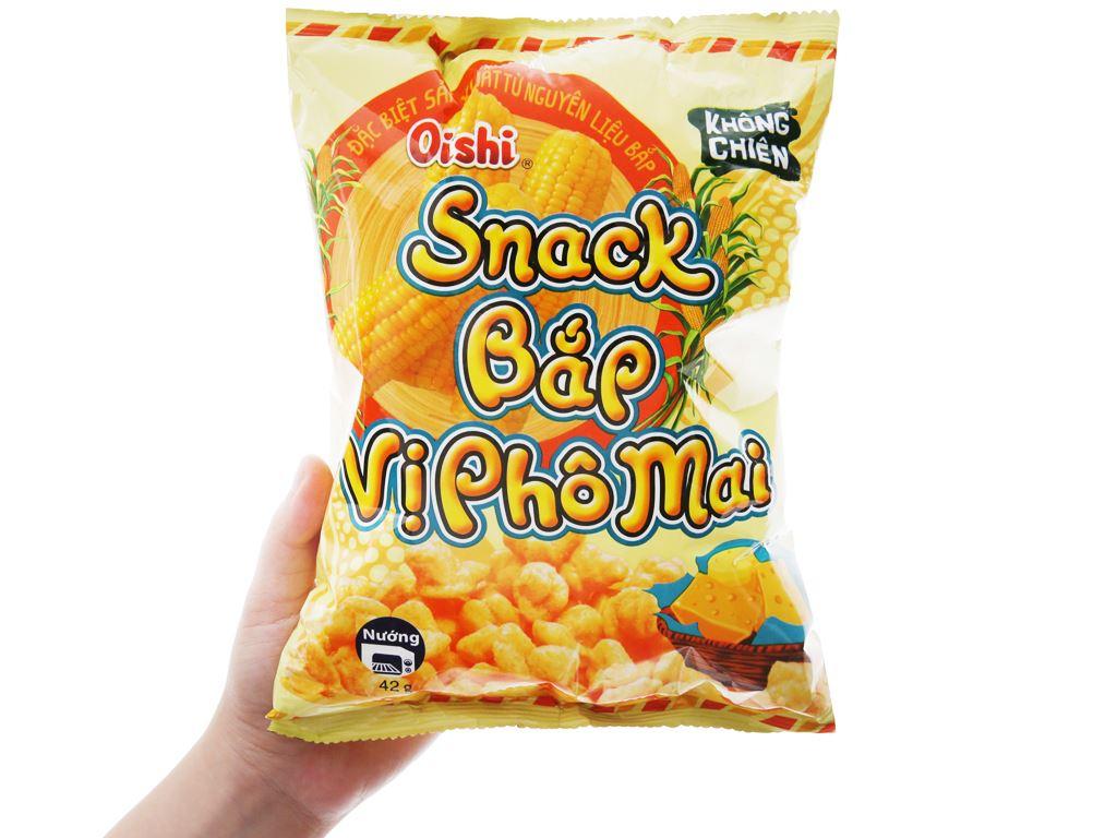 Snack bắp vị phô mai Oishi gói 40g 3