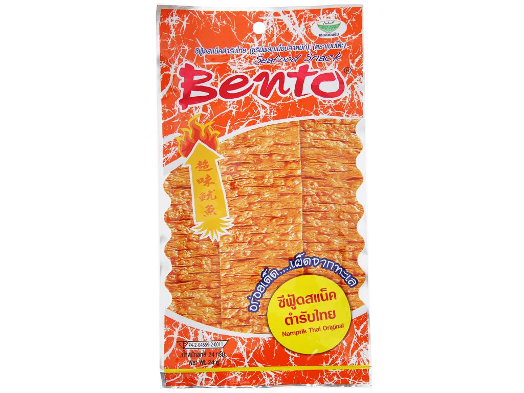 Snack hải sản tẩm gia vị Thái Bento gói 24g 1