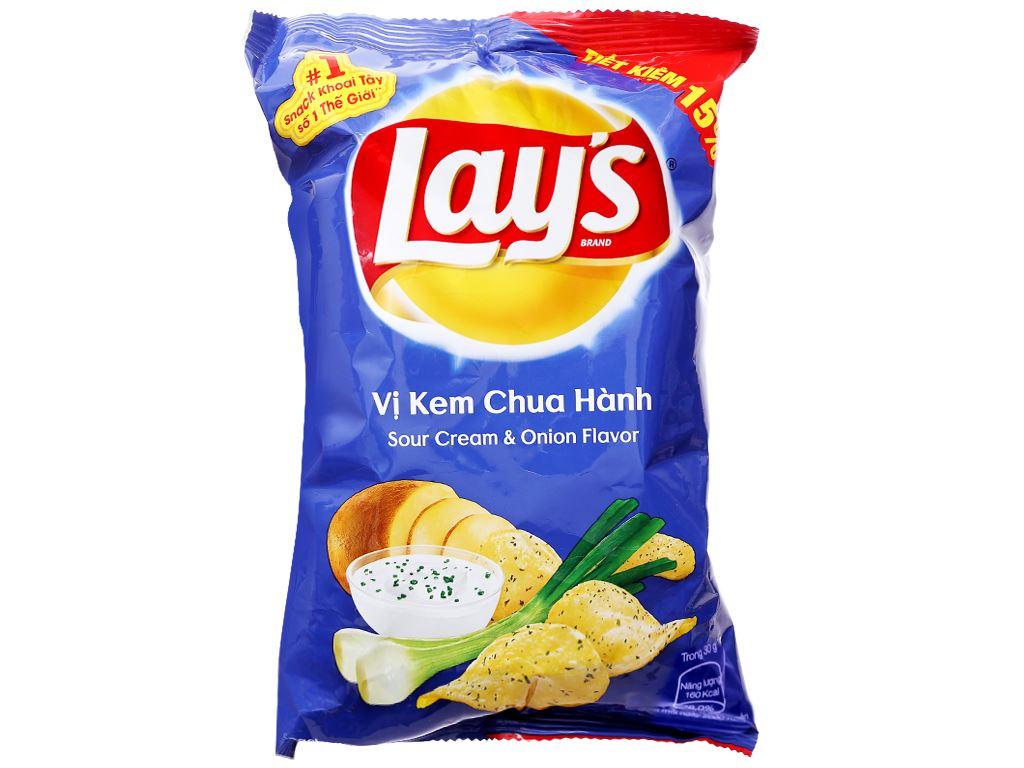 Snack khoai tây vị kem chua hành Lay's gói 29g 1