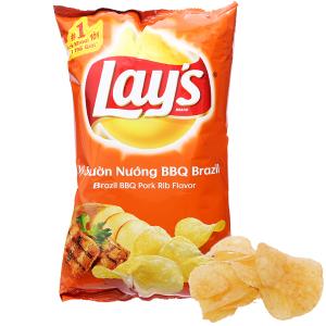 Snack khoai tây vị sườn nướng BBQ Brazil Lay's gói 95g