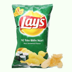 Snack khoai tây vị tảo biển nori Lay's gói 95g