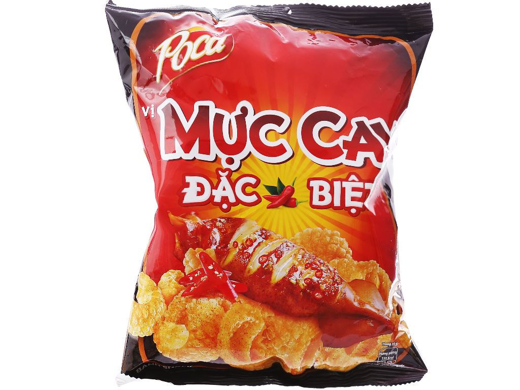 Snack vị mực cay đặc biệt Poca gói 35g 1