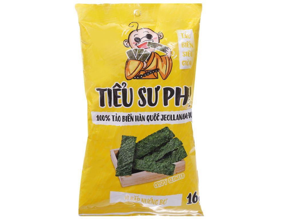 Snack tảo biển siêu giòn vị bắp nướng bơ Tiểu Sư Phụ gói 16g 1