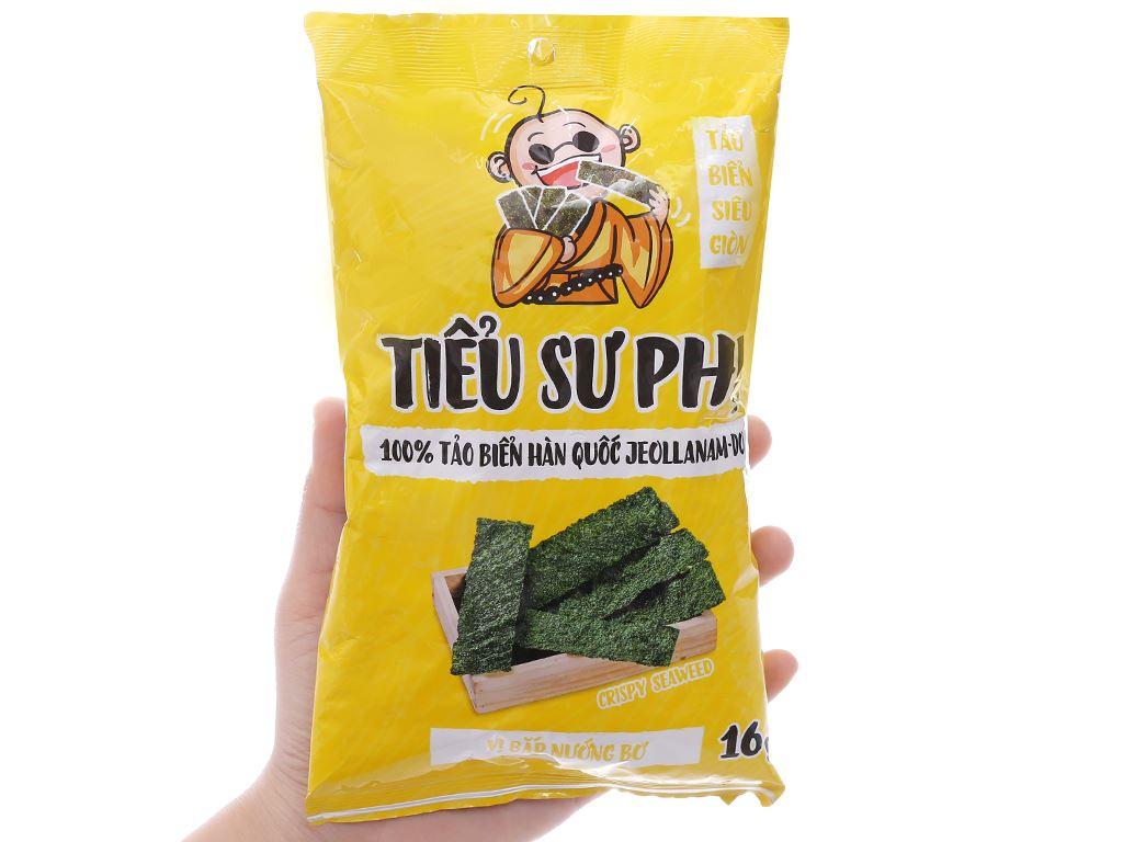 Snack tảo biển siêu giòn vị bắp nướng bơ Tiểu Sư Phụ gói 16g 3