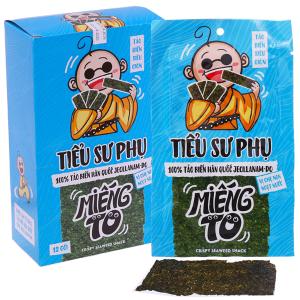 Snack tảo biển siêu giòn vị ghẹ non ngọt nước Tiểu Sư Phụ hộp 48g (12 gói)