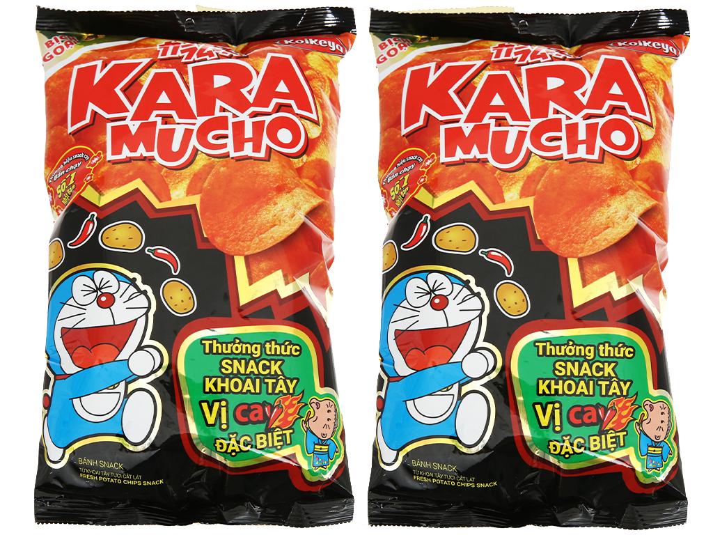 Combo 2 gói snack khoai tây vị cay đặc biệt Karamucho 85g 1