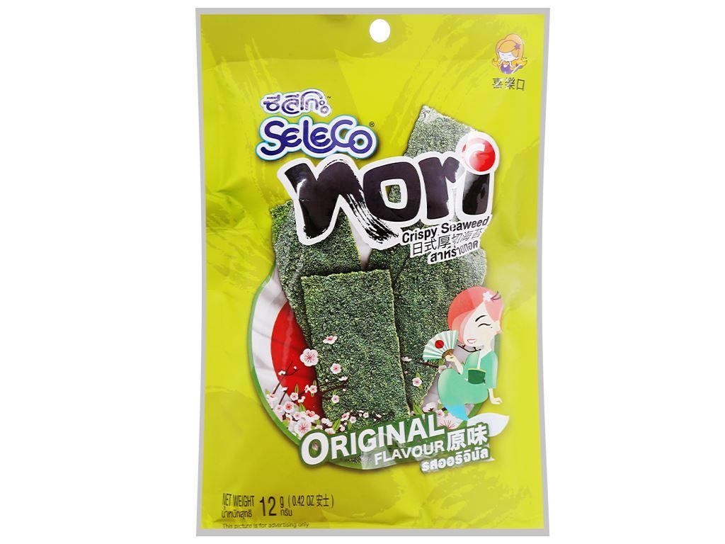 Snack rong biển vị truyền thống Seleco Nori gói 12g 2
