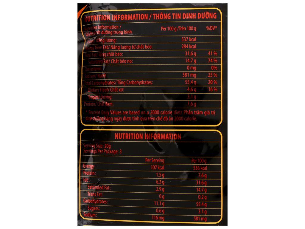 Snack khoai tây vị cay Slide gói 60g 4