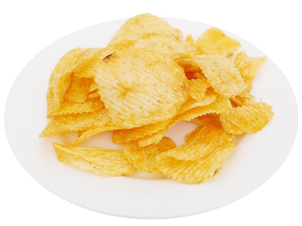 Snack khoai tây vị mực tẩm cay thái Lay's Wavy gói 29g 6