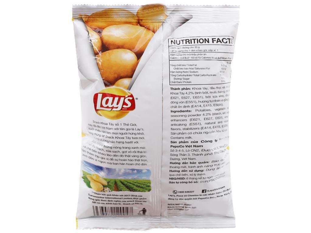 Snack khoai tây vị tự nhiên Lay's gói 29g 3