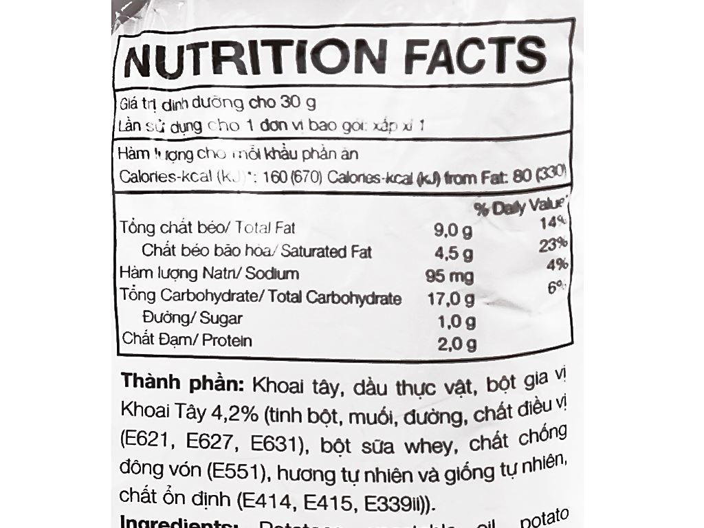 Snack khoai tây vị tự nhiên Lay's gói 29g 4