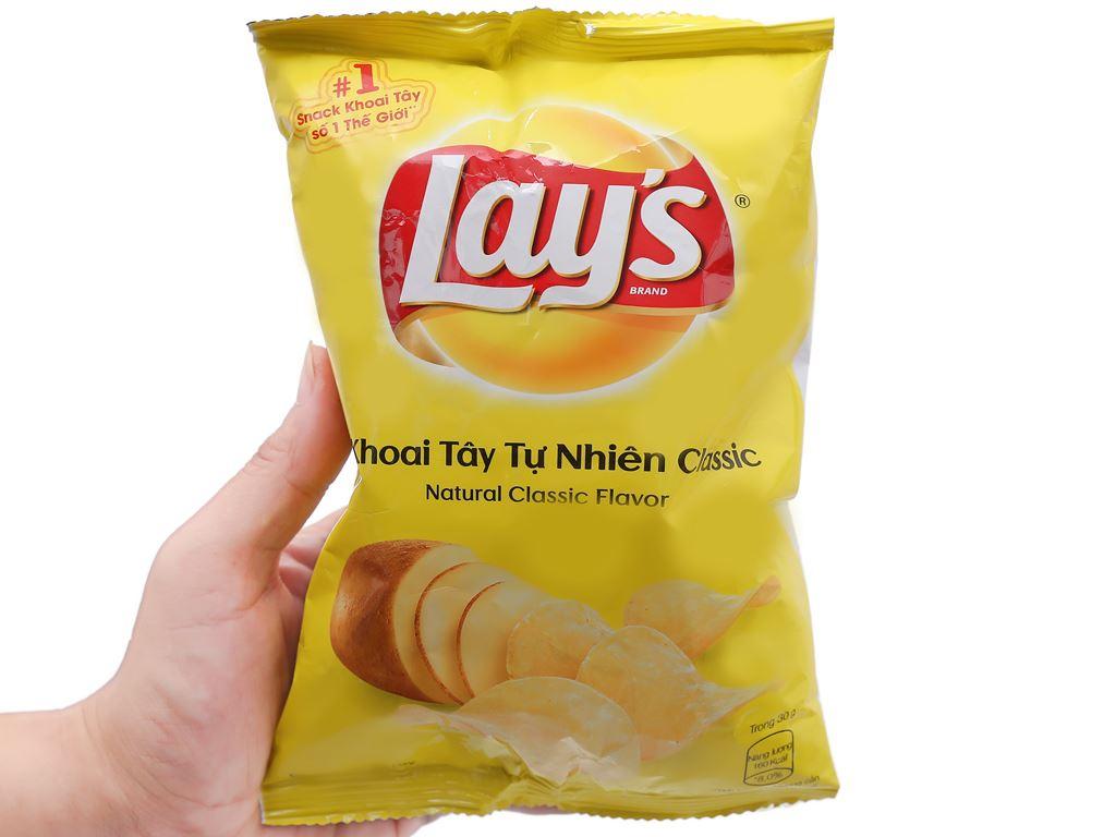 Snack khoai tây vị tự nhiên Lay's gói 29g 5