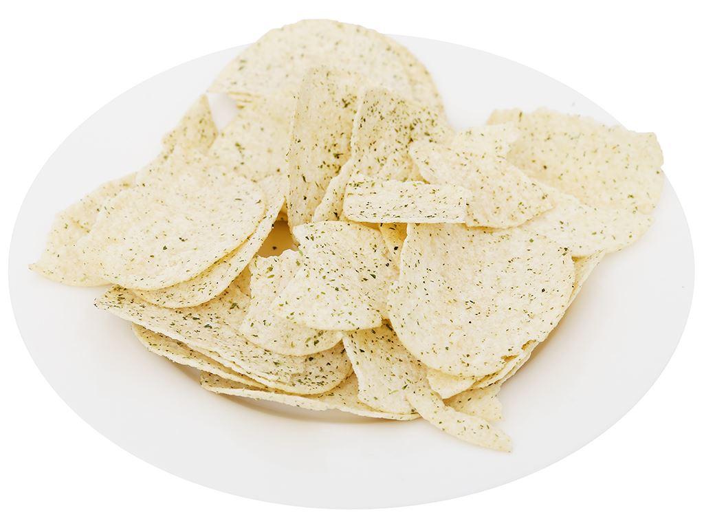 Snack khoai tây vị rong biển Peke Potato Chips lon 80g 7