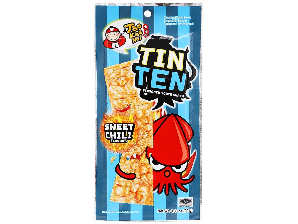 Snack mực tẩm gia vị ớt ngọt Tao Kae Noi Tinten gói 20g 1