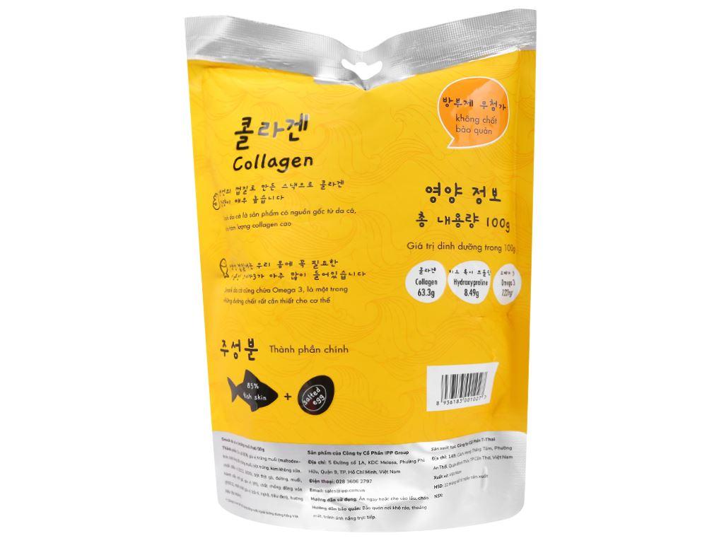 Snack da cá vị trứng muối Pati gói 50g 2