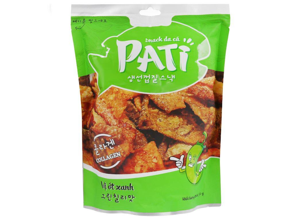Snack da cá vị ớt xanh Pati gói 50g 1
