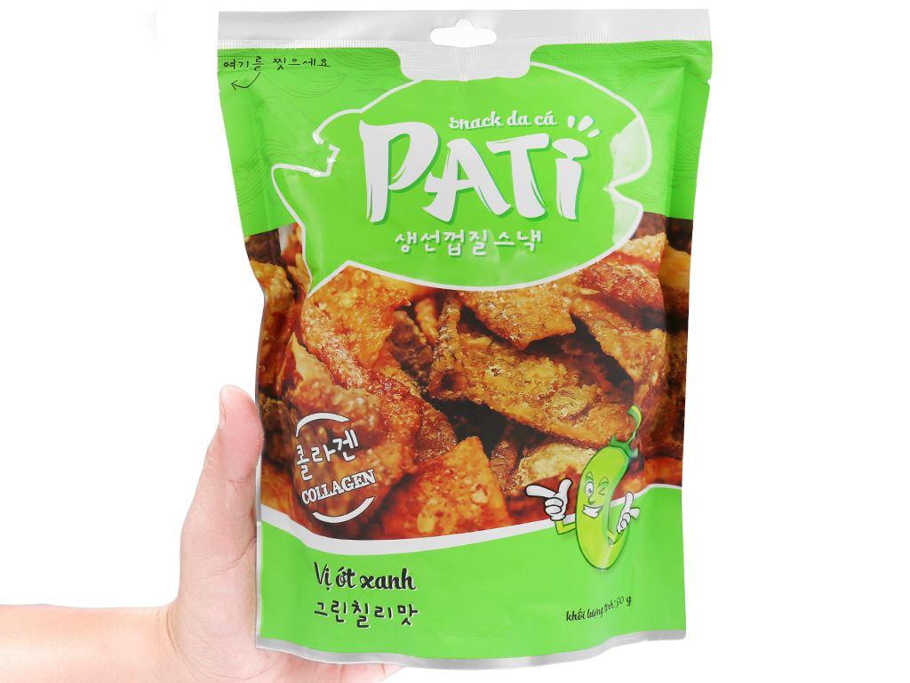 Snack da cá vị ớt xanh Pati gói 50g 4