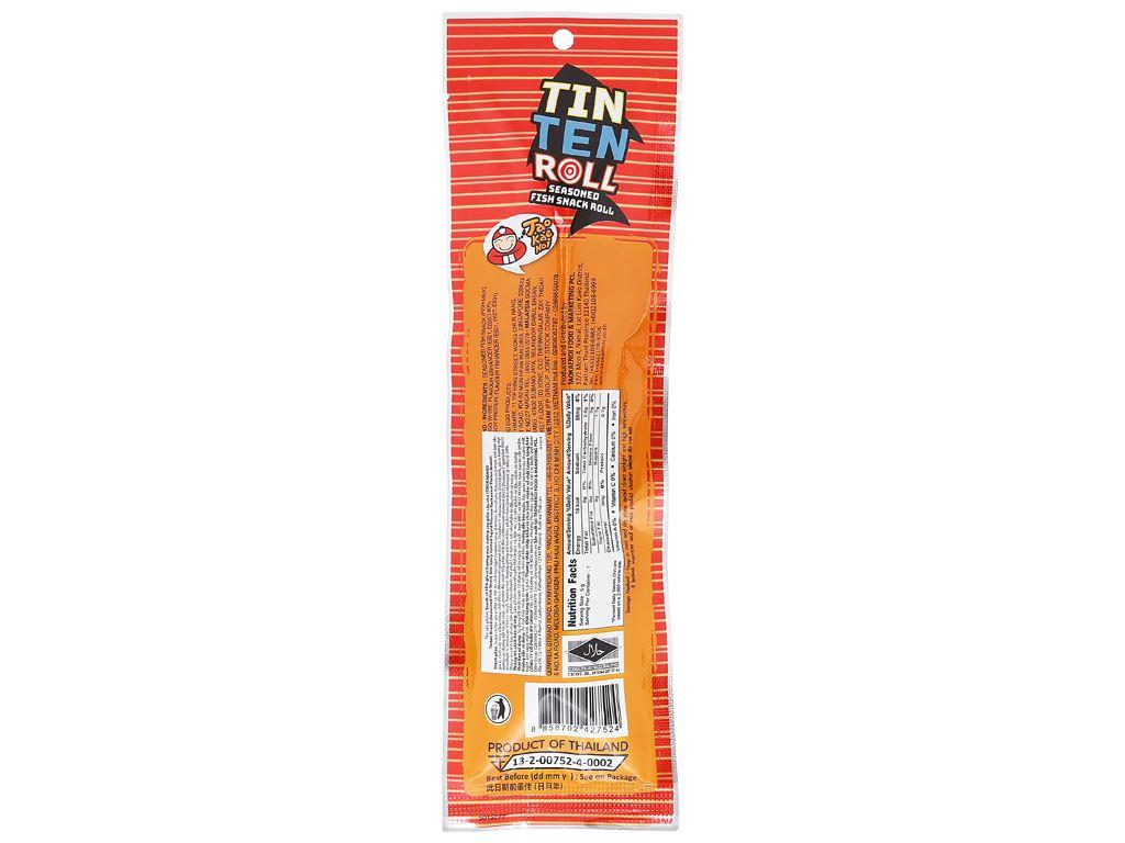 Hộp 9 gói Snack cá tẩm gia vị hương mực nướng cay giòn Tao Kae Noi Tinten 5g 3