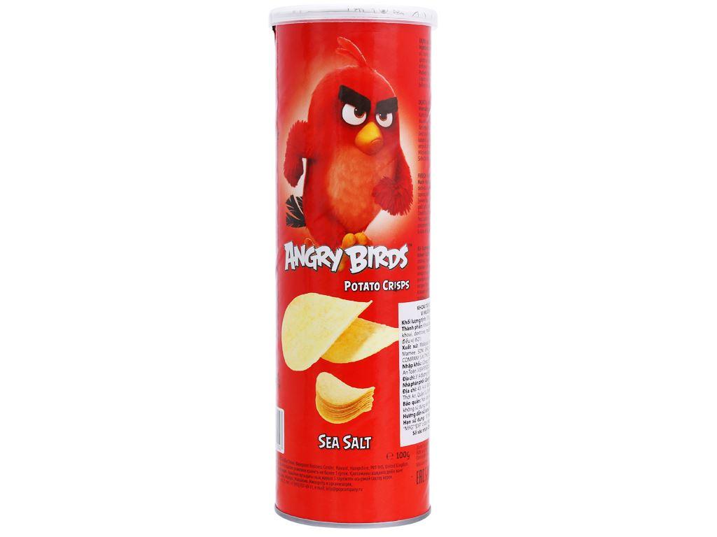 Khoai tây chiên Angry Birds vị muối biển lon 100g 1