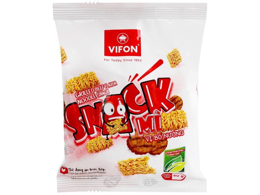 Snack mì vị bò nướng Vifon gói 40g 1