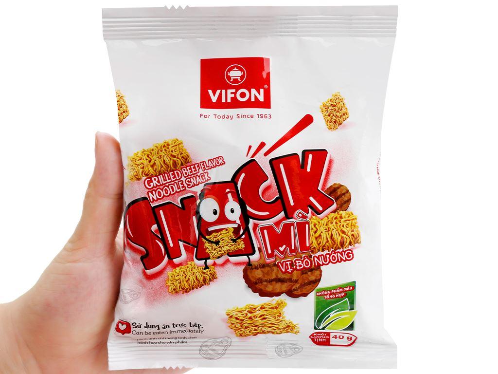 Snack mì vị bò nướng Vifon gói 40g 4